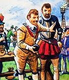 Sir Francis Drake playing bowls before dealing with the Spanish Armada