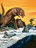 Tyrannosaurus Rex attacks
