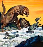 In Search of Dynosaurs: Tyrannosaurus Rex attacks