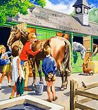 At the stables