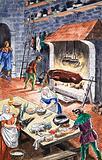 The kitchen of olden days