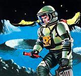 Spaceman testing the atmosphere