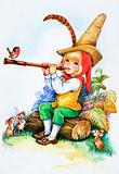 Fairy tale flute player