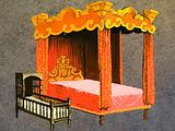 Four-Poster Bed and Cradle