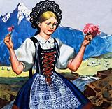 Traditional costume of Switzerland