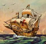 Santa Maria, ship on which Christopher Columbus sailed to the New World, 1492