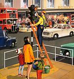 Traffic light cleaner