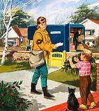 Postman and postwoman