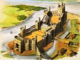 Caernarvon Castle in the time of King Edward the First
