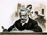 Victor Hugo writing his novel Notre Dame de Paris