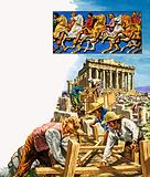 Lord Elgin exploring the ruins of the Parthenon