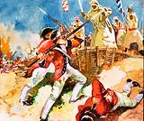 Indian attack on the garrison at Calcutta