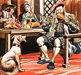 King Henry VIII eating