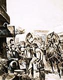 Mormon settlers prepare to trek across America