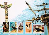 Birds of ill-omen, including albatross, rook and phoenix