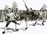 Jeu de Paume, a kind of handball