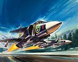 Unidentified jet fighter