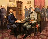 Ulysses S Grant and Robert E Lee, Union and Confederate generals of the American Civil War