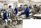 In workhouses, unemployed men earned their meal and a bed by picking oakum