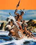 The Story of New Zealand: A Maori boat