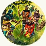 The Wonderful Story of Britain: The Wise King Edward. Highway robbers claim their latest victim