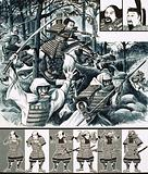The War-Lords of Japan: Prince Morinaga leads soldier monks into battle