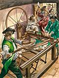 Workers attack the Blackburn home of James Hargreaves to destroy his invention, the Spinning Jenny