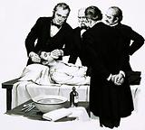 Dr Crawford Long reders a student unconscious before performing an operation