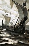 Viking longboats