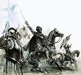 Francisco de Coronado at the head of his expedition into Mexico