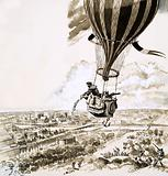 Rolier and Bezier were sent with a message by balloon during World War I