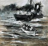 The tramp steamer HMS Farnborough was sunk by a German U-Boat
