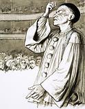 Jean Gaspard Deburau, also known as the clown Pierrot