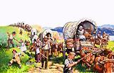 Unidentified wagon train scene