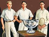 The first Davis Cup was thought up by Dwight Davis who was on the winning team