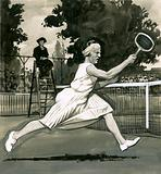 Suzanne Lenglen, the Ladies' Singles Champion