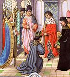 Richard II resigning his crown to Henry Bollingbroke, later Henry IV
