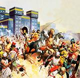 Zopyrus attacking the Persians outside the walls of Babylon