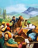 Unidentified cavalryman attacking Idians