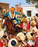 Nana Sahib's guards refuse to shoot prisoners of the Indian Mutiny
