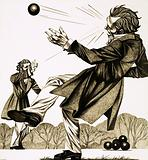 Two Frenchmen chose to duel by hurling billiard balls at each other