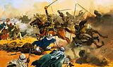 The 21st Lancers lead the battle against the Arab stronghold at Omdurman in 1897