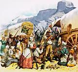 Dutch setters fighting Kafirs