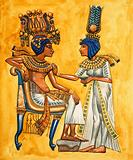 The rich robes and head-dresses of the Ancient Egypt