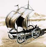The Land Ship, invented by Dr Wilkins, Bishop of Chester, in 1648