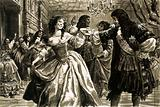 King Charles II and Nell Gwyn dancing