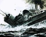 In the China Seas in 1930, the 2,000 ton steamer Yuta slammed into the side of the submarine Poseidon