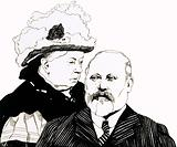 Queen Victoria and the Prince of Wales, soon to become King Edward VII