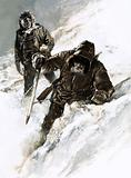 Dr Isaac Stringer and C. F. Johnson trekked across the Yukon
