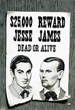 Wanted poster for Jesse James